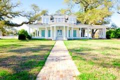 美国家庭豪宅南部的样式 库存图片