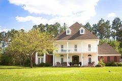 美国家庭豪宅南部的样式 免版税库存照片