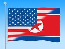 美国对美国国旗3d例证 向量例证