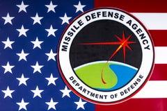 美国导弹防卫厅 免版税库存图片