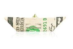 美国小船美元做纸张 免版税库存照片