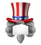 美国帽子标志 免版税库存图片