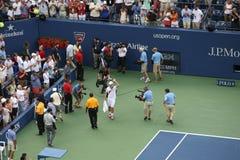 美国开张网球-安迪Roddick报废 库存照片