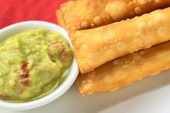 美国开胃菜叫拉丁tequenos 免版税库存图片