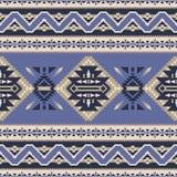 美国当地的西南,印度,阿兹台克,那瓦伙族人无缝的样式 皇族释放例证