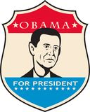美国总统的Shield Obama 向量例证