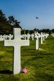 美国战争公墓 免版税库存图片