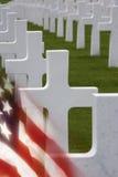 美国战争墓地- Somme -法国 库存图片