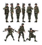 美国战士伞兵 免版税库存图片