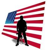 美国战士 库存图片