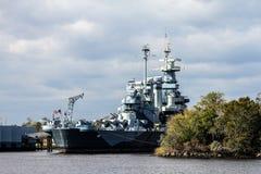 美国战舰北卡罗来纳 免版税库存图片