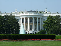 美国房子白色 免版税库存图片