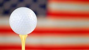 美国打高尔夫球 免版税库存图片