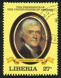美国托马斯・杰斐逊的总统 免版税图库摄影