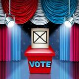 美国投票箱 库存图片