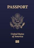 美国护照封印 免版税图库摄影