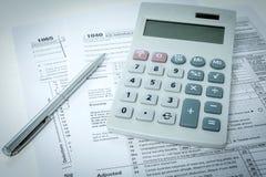 美国报税表 免版税库存照片
