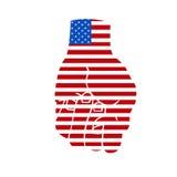美国拳头标志 库存例证