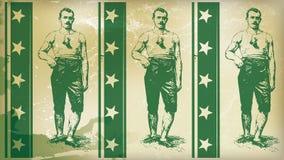 美国拳击手绿色 免版税库存照片