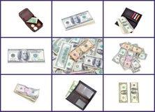 美国拼贴画货币 免版税库存照片