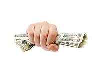 美国握紧的美元 免版税图库摄影