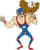 美国摔跤手 库存照片