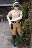 美国摩托车警或警察的雕象 图库摄影