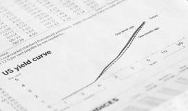 美国收益曲线图 库存图片