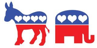 美国政党政治符号 免版税库存图片