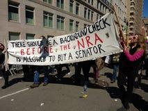 美国政府腐败,枪大厅, NRA, NYC 3月我们的生活,抗议, NY,美国 库存照片