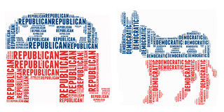 美国政治符号 库存照片