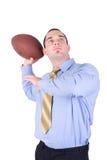 美国教练橄榄球 图库摄影