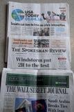 美国新闻报纸 图库摄影