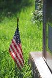 美国旗子军用经验丰富的纪念品 免版税库存照片
