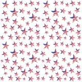 美国旗子担任主角无缝的样式 向量背景 免版税图库摄影