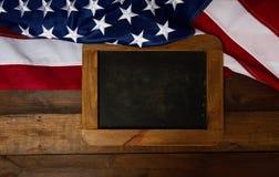 美国旗子板材 库存照片