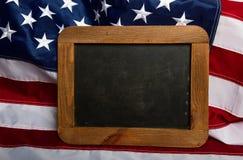 美国旗子板材 库存图片