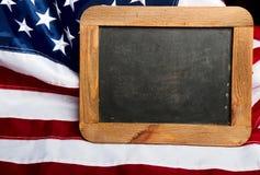 美国旗子板 免版税库存照片