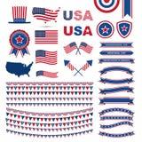 美国旗子样式元素 免版税库存照片