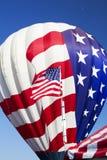 美国旗子热空气气球 免版税库存图片