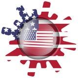 美国旗子的变形 免版税库存照片