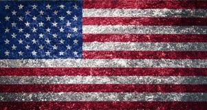 美国旗子的纹理 图库摄影