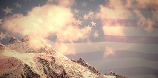 美国旗子的综合图象 免版税库存图片