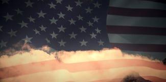 美国旗子的综合图象 免版税图库摄影