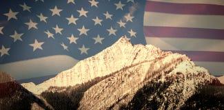 美国旗子的综合图象 库存照片