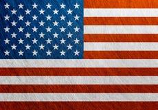 美国旗子葡萄酒,减速火箭,被抓 免版税库存照片