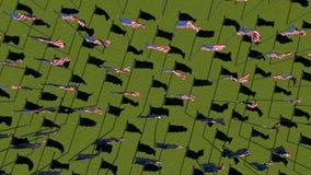美国旗子行动图表动画背景 向量例证