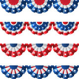 美国旗布装饰 免版税库存图片