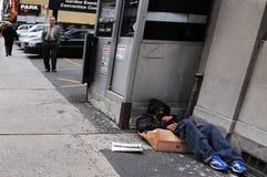 美国无家可归者 免版税库存图片