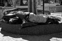 美国无家可归者 图库摄影